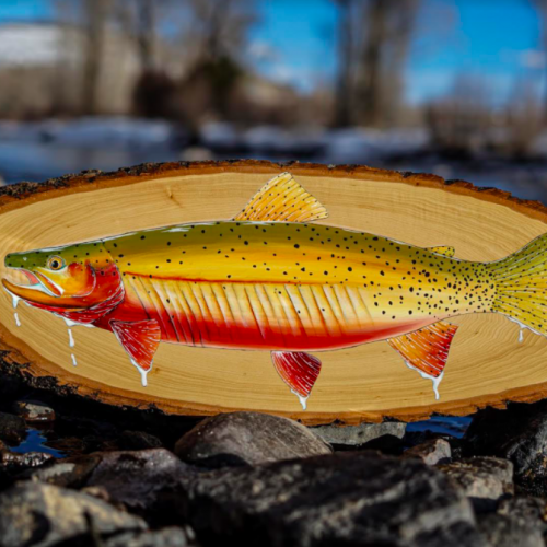 Cutthroat Trout Painting On Wood