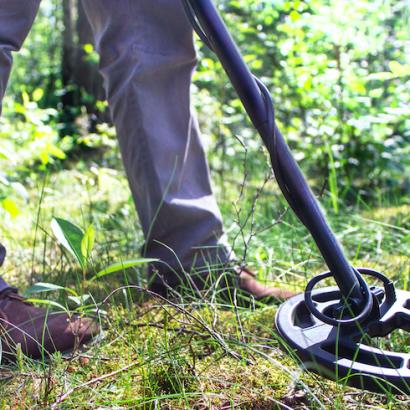 Metal Detecting While Hiking