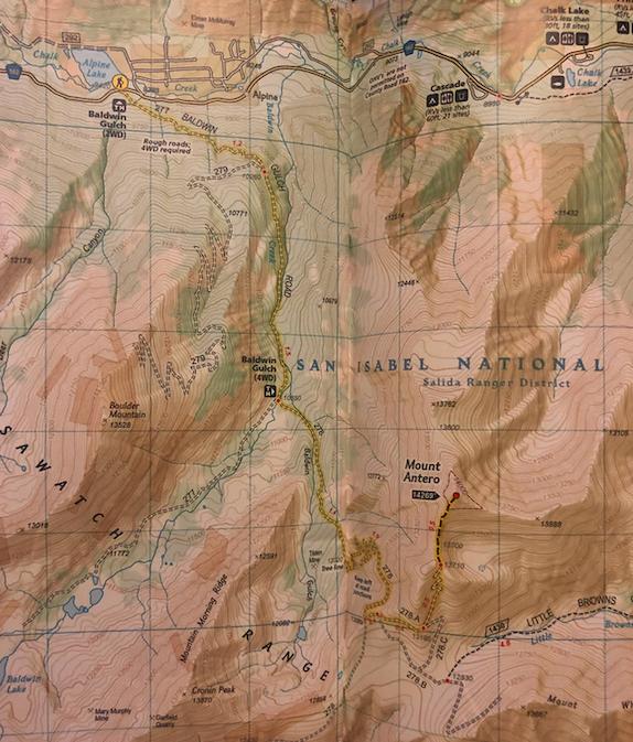 Mount Antero Trail Map