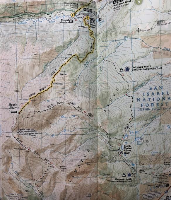 Mount Elbert Trail Map
