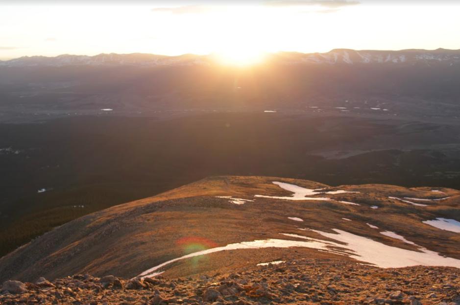 Sunrise on Mount Elbert