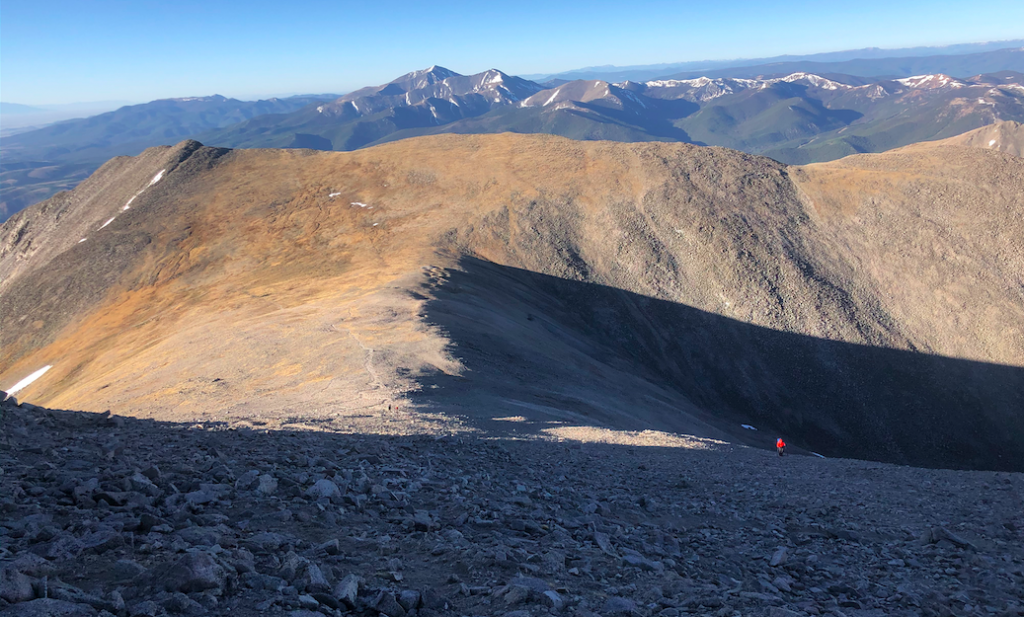 Views Looking Down To The Ridge On The Last Push To Shavano Summit
