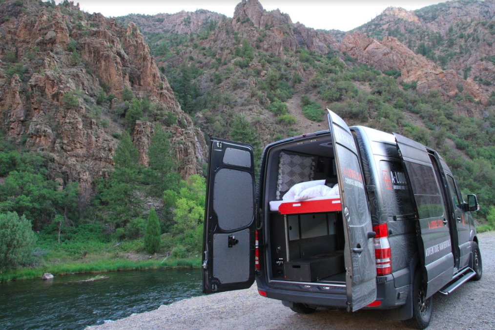 Campervan in Gunnison Canyon