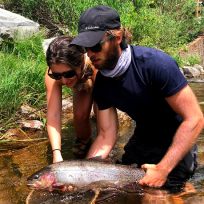 Colorado Rainbow Trout From Small Creek